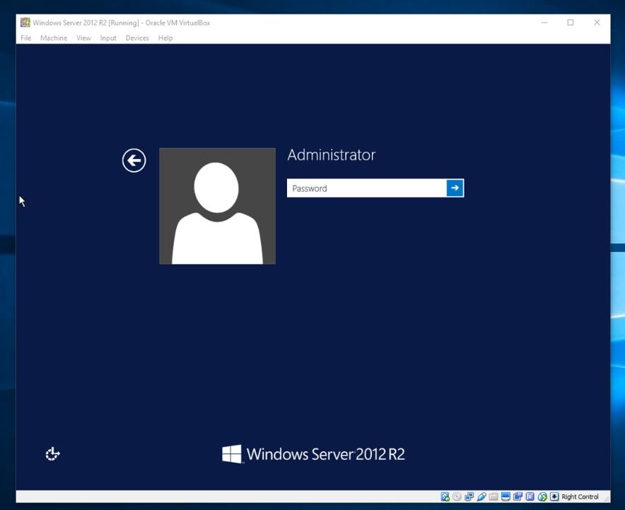 Haslo administratora w Server 2012 R2