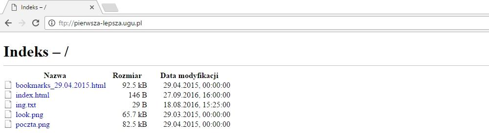 Klient FTP wbudowany w przegladarkę