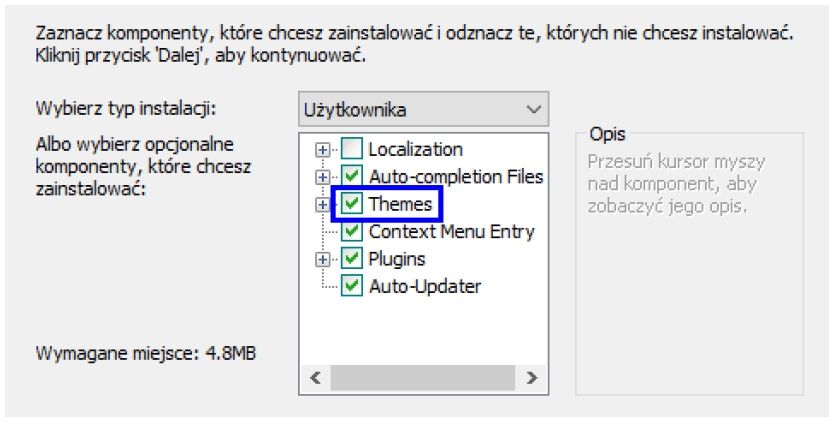 Notepad++ instalacja tematów